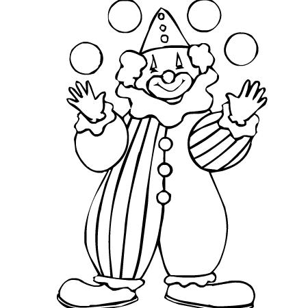 Clown a colorier sur - Dessiner un clown ...